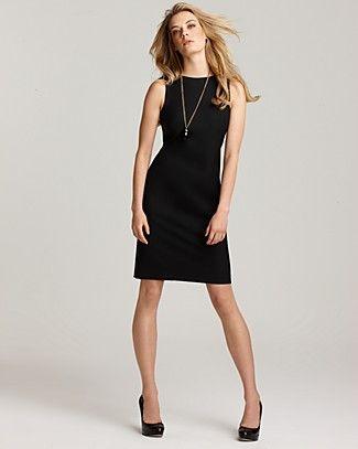 Vestidos negro recto
