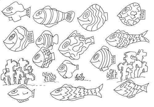 """ausmalbild """"unterwasserwelt 1""""  ausmalbilder ausmalen"""