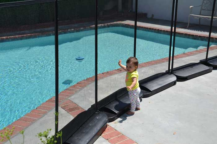 The World S Only Pool Fence That Requires No Holes In The Ground