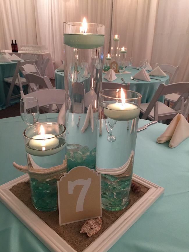 Elegant Beach Themed Bat Mitzvah Party Beach Wedding Centerpieces Beach Wedding Decorations Beach Centerpieces