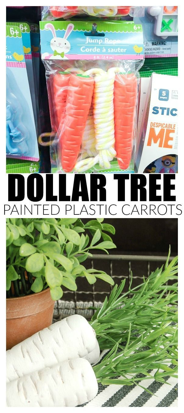 How to Make Dollar Tree Carrots Look Impressively Real #dollartreecrafts