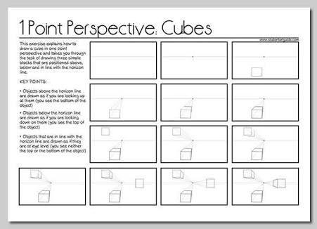 one=point perspective worksheets - Bing Imágenes | Big J ...