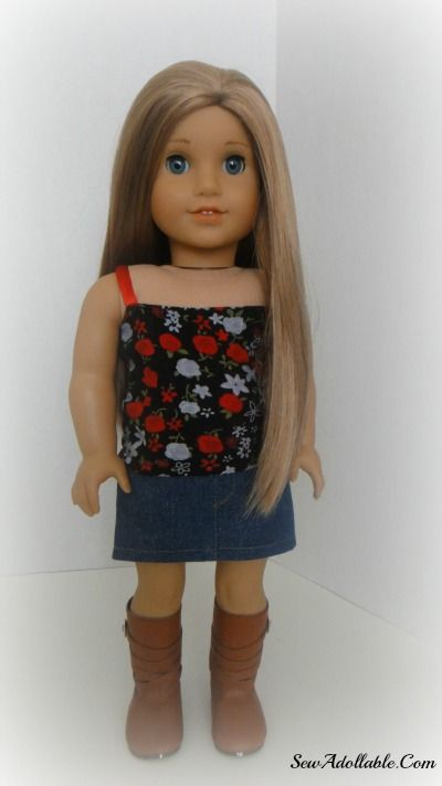 easy top for american girl dolls - no pattern. has variations and ...