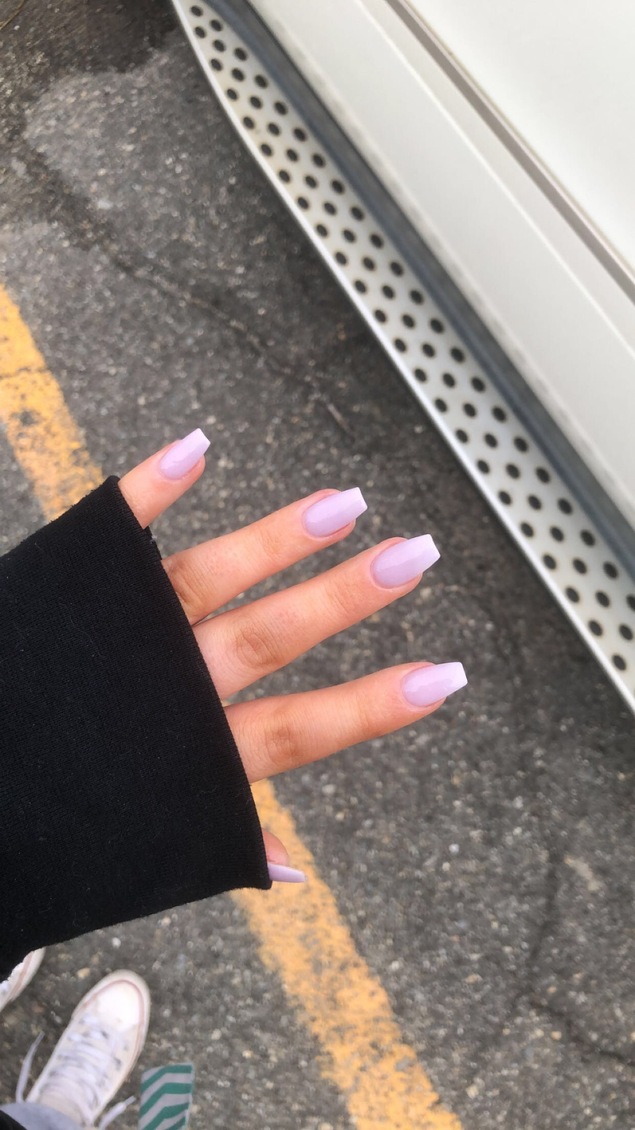 Purple Pastel Acrylic Coffin Nails Dip Manicure Aesthetic Acrylic Nails In 2020 With Images Acrylic Dip Nails Acrylic Nails Pastel Acrylic Nails