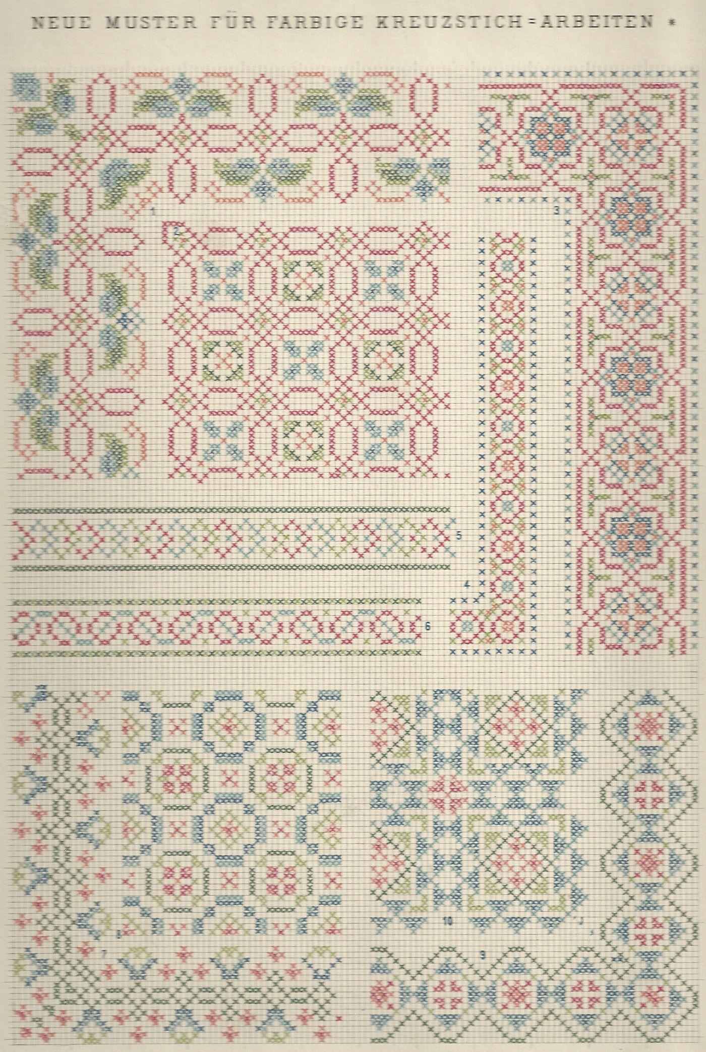 1 / Blatt 16 - Neue Muster-Vorlagen Fur Farbige Kreuzstich ...