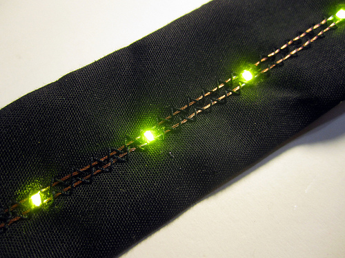 really well sewn conductive thread