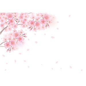 フリーイラスト, ベクター画像, AI, 背景, 植物, 花, 桜(