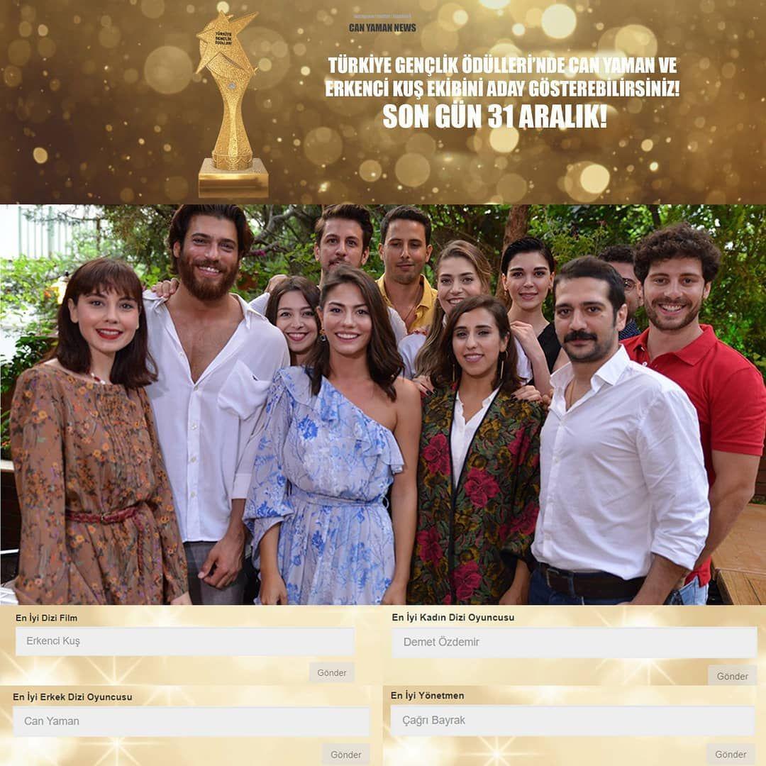 Türkiye Gençlik Ödülleri'nde Can Yaman ve Erkenci Kuş