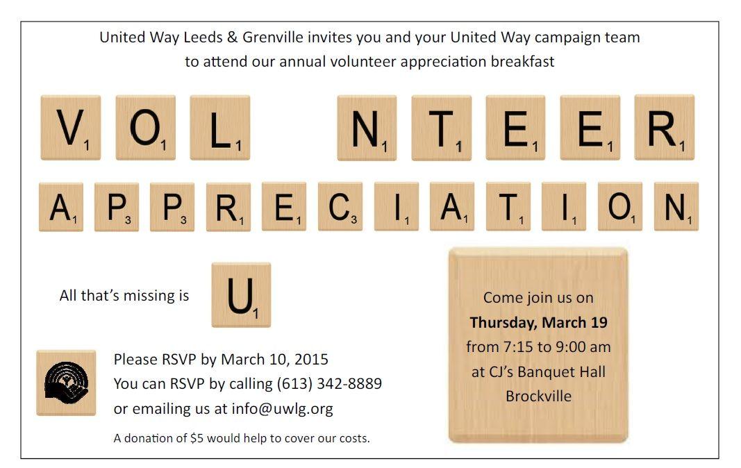volunteer appreciation invites Google Search PTA Pinterest