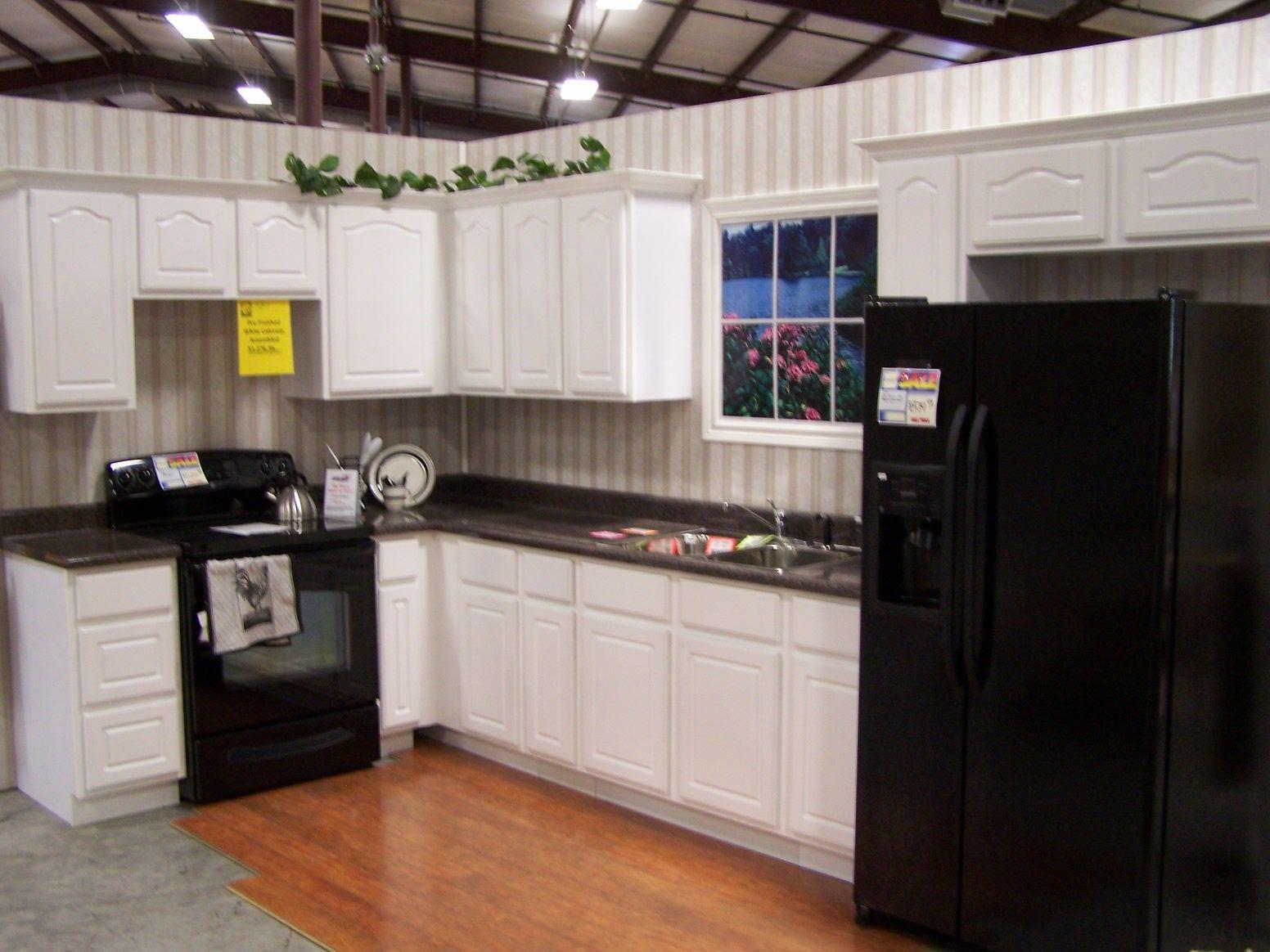 Black And White Kitchen Ideas Small Design Interior With Striped Backsplash Cabinets Also