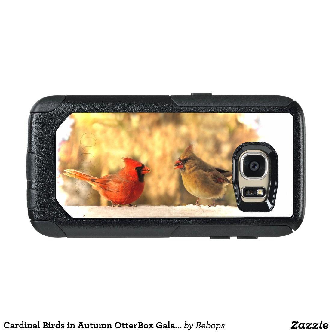 Cardinal Birds in Autumn OtterBox Galaxy S7 Case