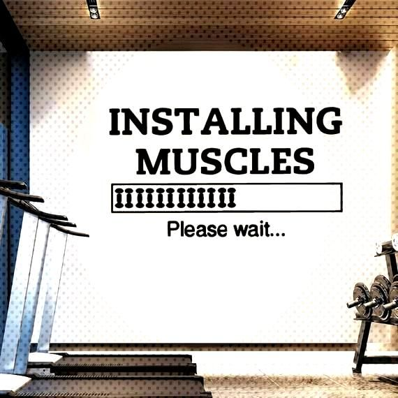 #installing #motivation #muscles #fitness #weights #sticker #vinyl #decal #wall #v489 #gym #art Inst...