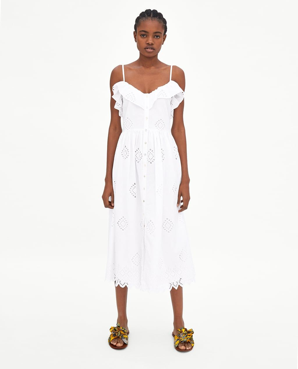 42097697 Image 1 of PERFORATED DRESS WITH EMBROIDERY from Zara | spring 2018 ...