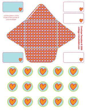 Teeny Envelope Printable Template  Blog  Cottage Industrialist