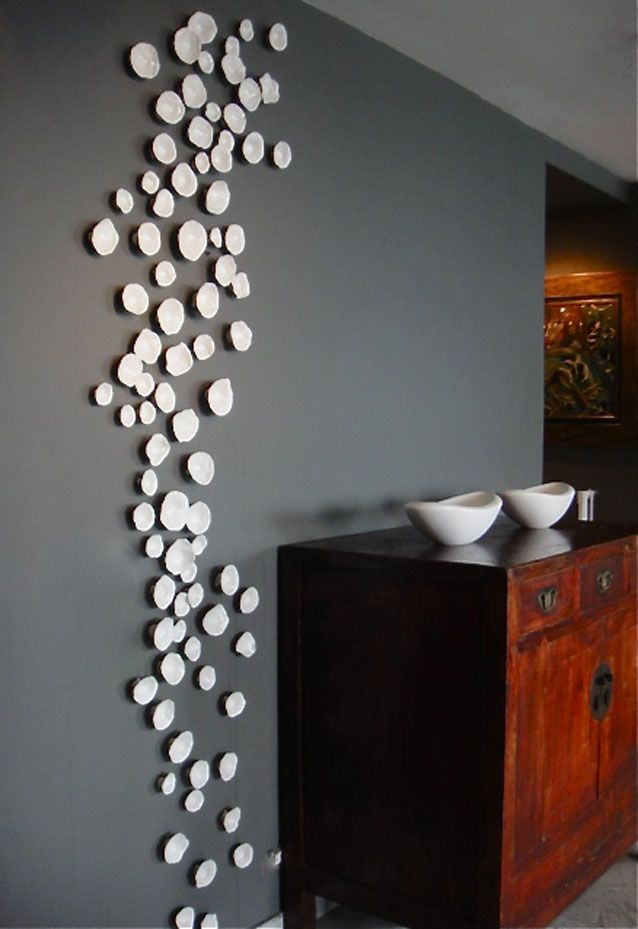 White Wall Installation Ceramic Wall Art