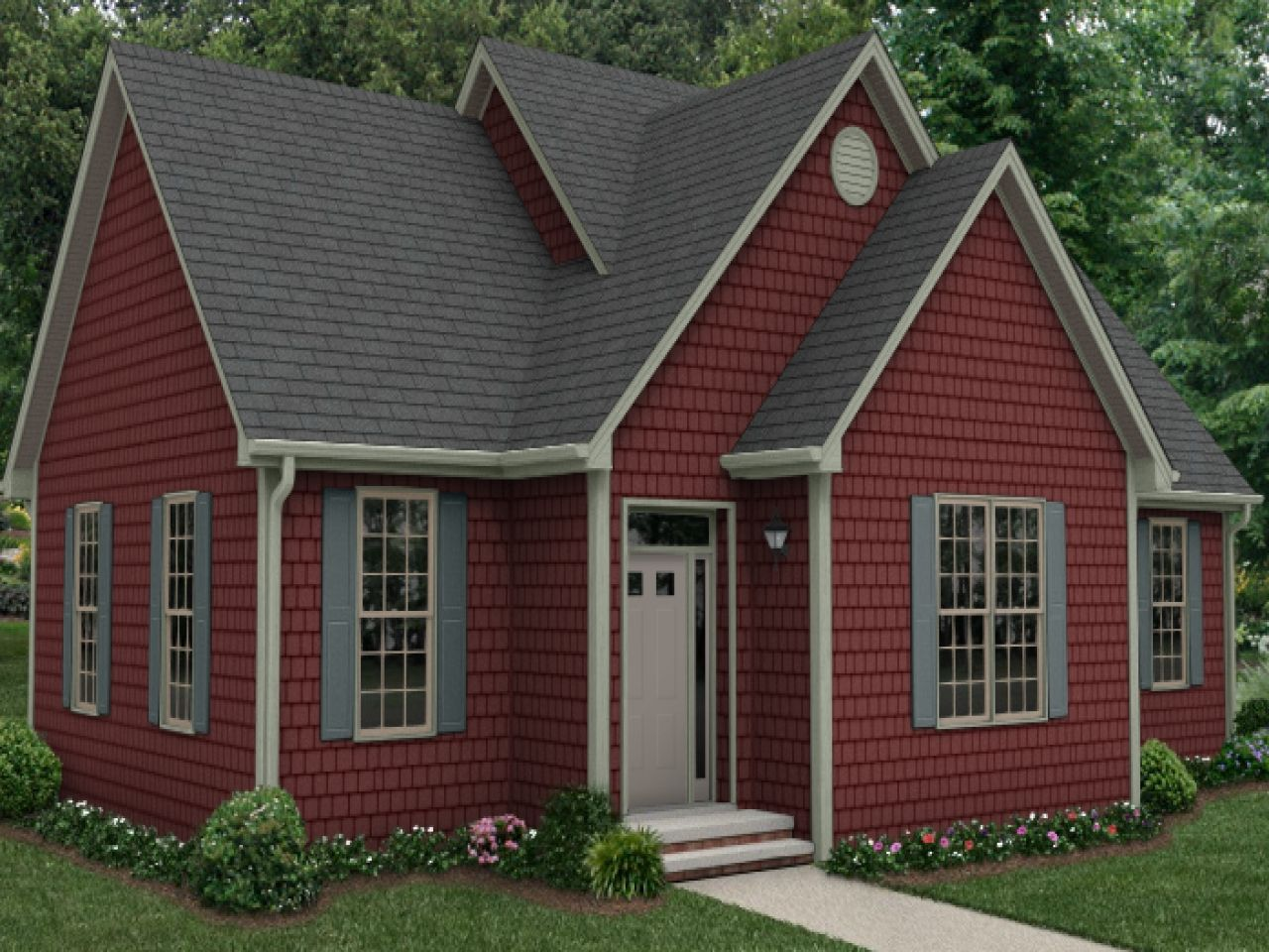 Love Roof Amp Shutters Color With The Red Siding House