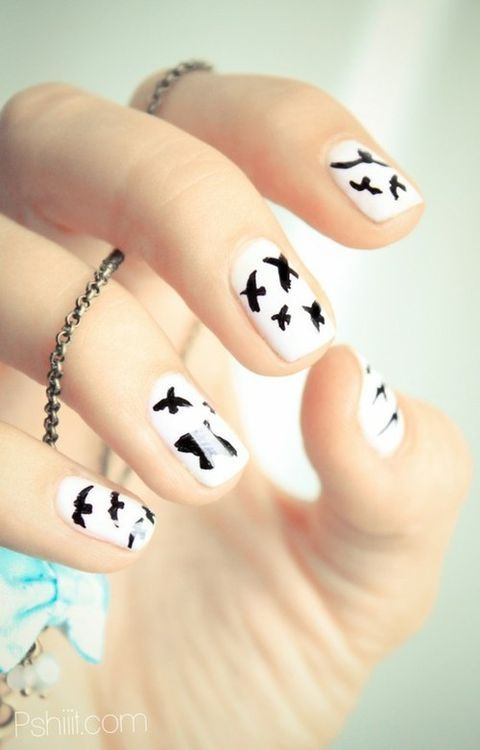 Black Swallow Nails. I don\'t think I can actually do this one but it ...