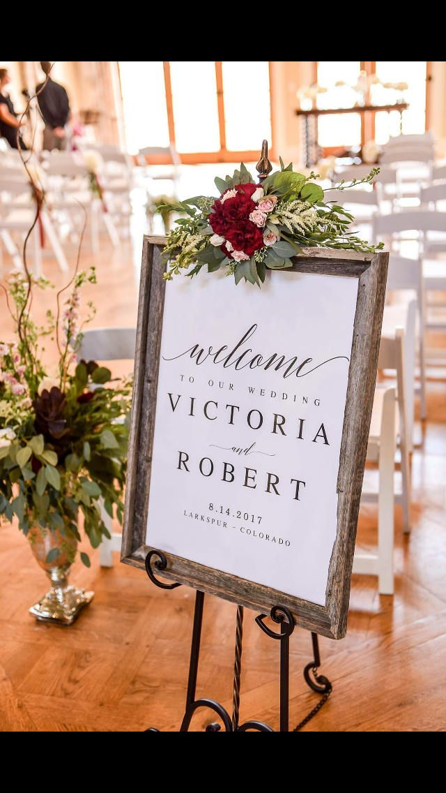 Elegant Welcome To Our Wedding Sign Template Diy