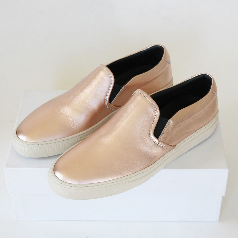 f8bab5253ad6 WOMAN by COMMON PROJECTS metallic copper shoes low top slip on sneakers 40  NEW #COMMONPROJECTS #FashionSneakers #metalliccopper #Lowtops # ...