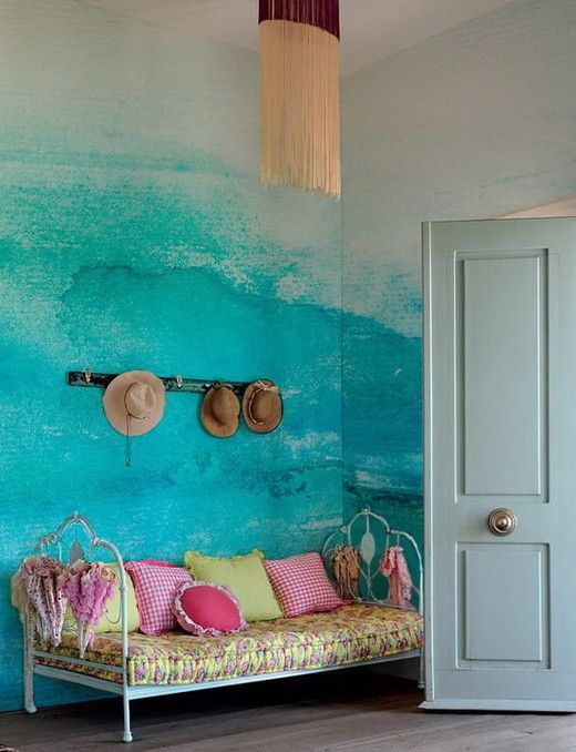 Painting Your Walls With Watercolors 25 Ideas Wall Painting