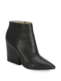 Loeffler Randall - Lia Leather Point-Toe Booties