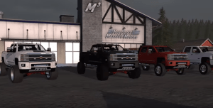 Farming simulator 17 lifted Chevy 3500 high country 2nd edited mod