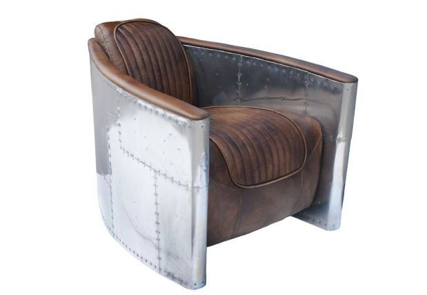Aviator Tomcat Chair Destroyed Raw Spitfire Upholstery