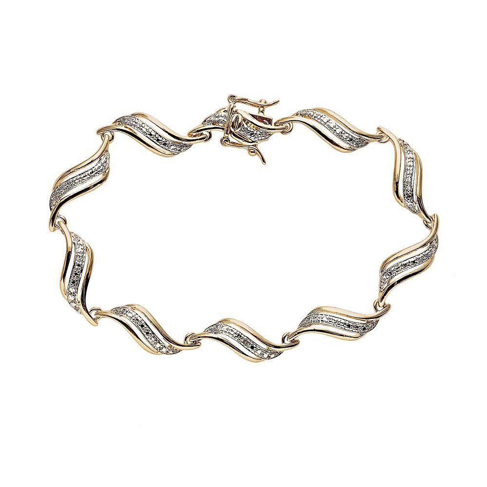 Kohlus k gold plated diamond accent swirl bracelet products