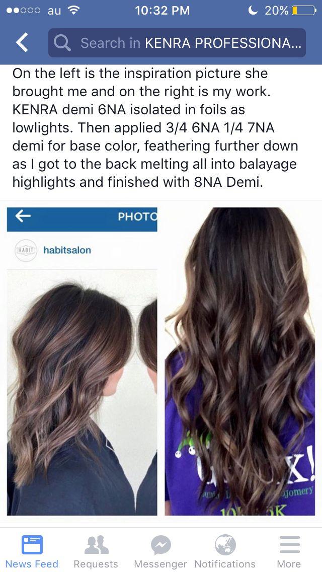 Natural ash balayage | Kenra color | Redken hair color, Hair