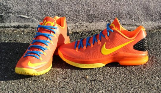 cheap prices d674f a99f7 Nike KD V Elite Team Orange Tour Yellow Total  Orange Photo Blue ... 318477c35e