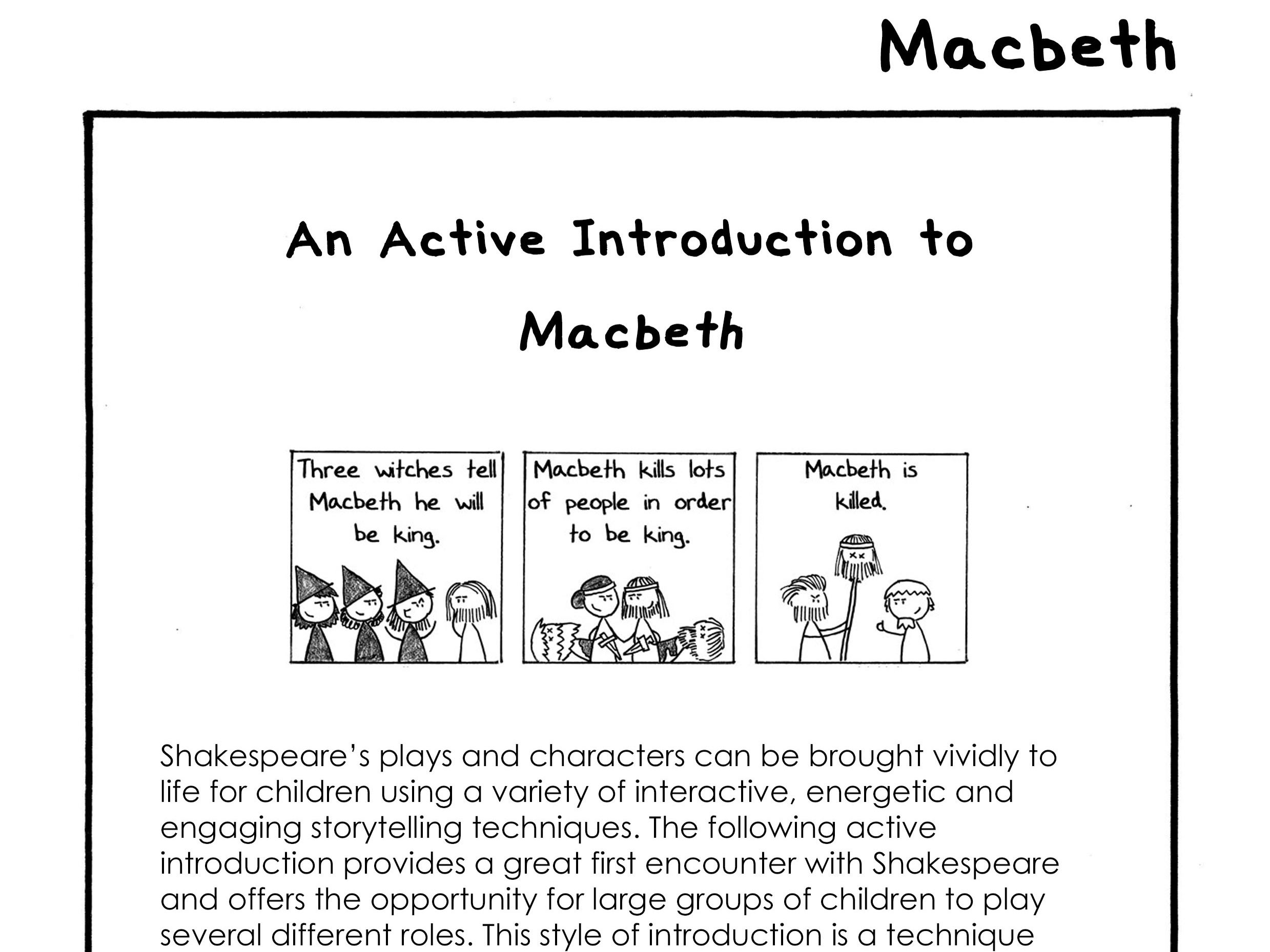 Efl Active Intro To Macbeth