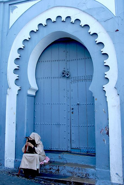 Explore the world,Morocco,blue,doors