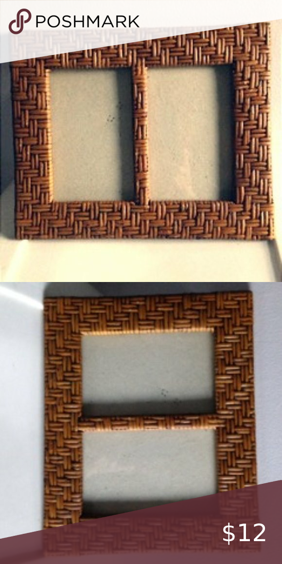 Basket Weave Picture Frame Basket Weave Picture Frame Frame Will Stand Either Vertical Or Horizontal Frame Measures 10 X 8 In 2020 Picture Frames Basket Weaving Frame
