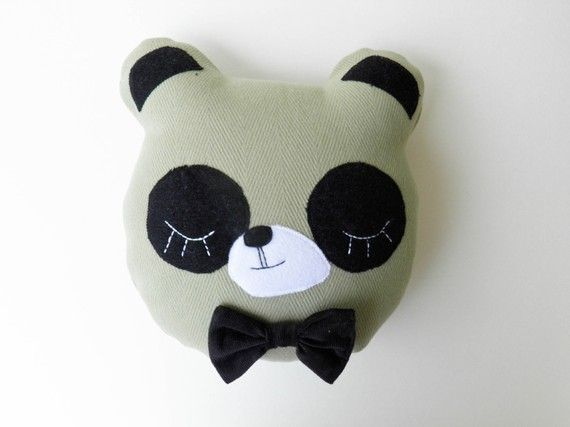 Sleepy panda pillow