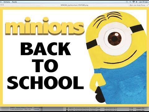 Back to School con los minions | ¿Cómo hacer tablón de corcho temático? MINION - YouTube