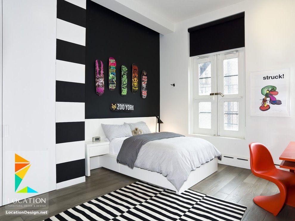 غرف نوم اولاد شباب أحدث موديلات غرف شبابي مودرن لوكشين ديزين نت White Bedroom Design Fresh Bedroom Decor Bedroom Design