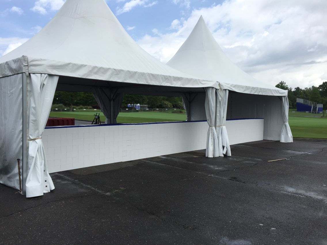 Tent walls and concession counters  All modular design and