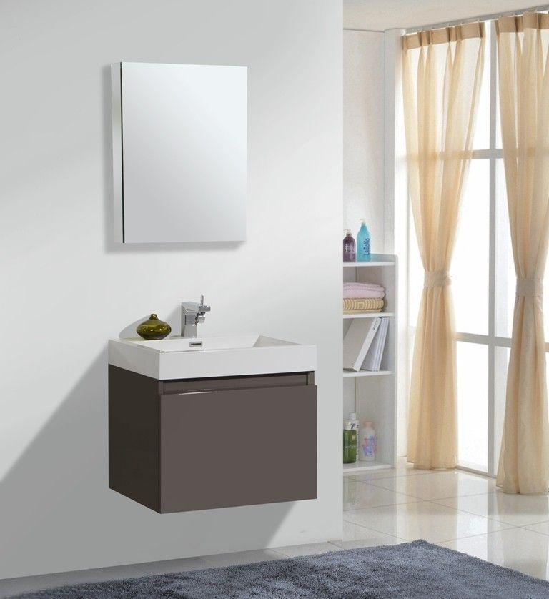 AQUA DECOR Venice 24Inch Modern Bathroom Vanity Set W
