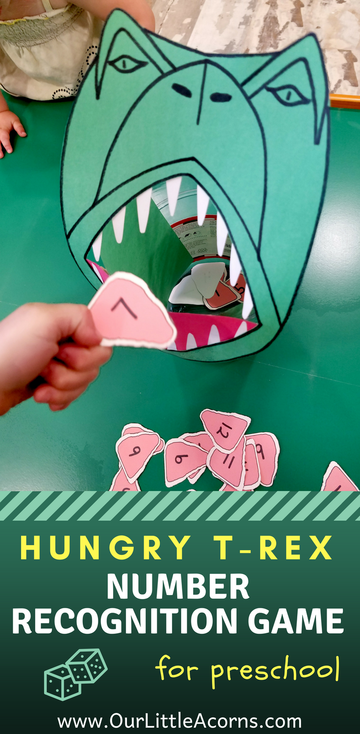 Hungry TRex Number Recognition Game Dinosaur activities