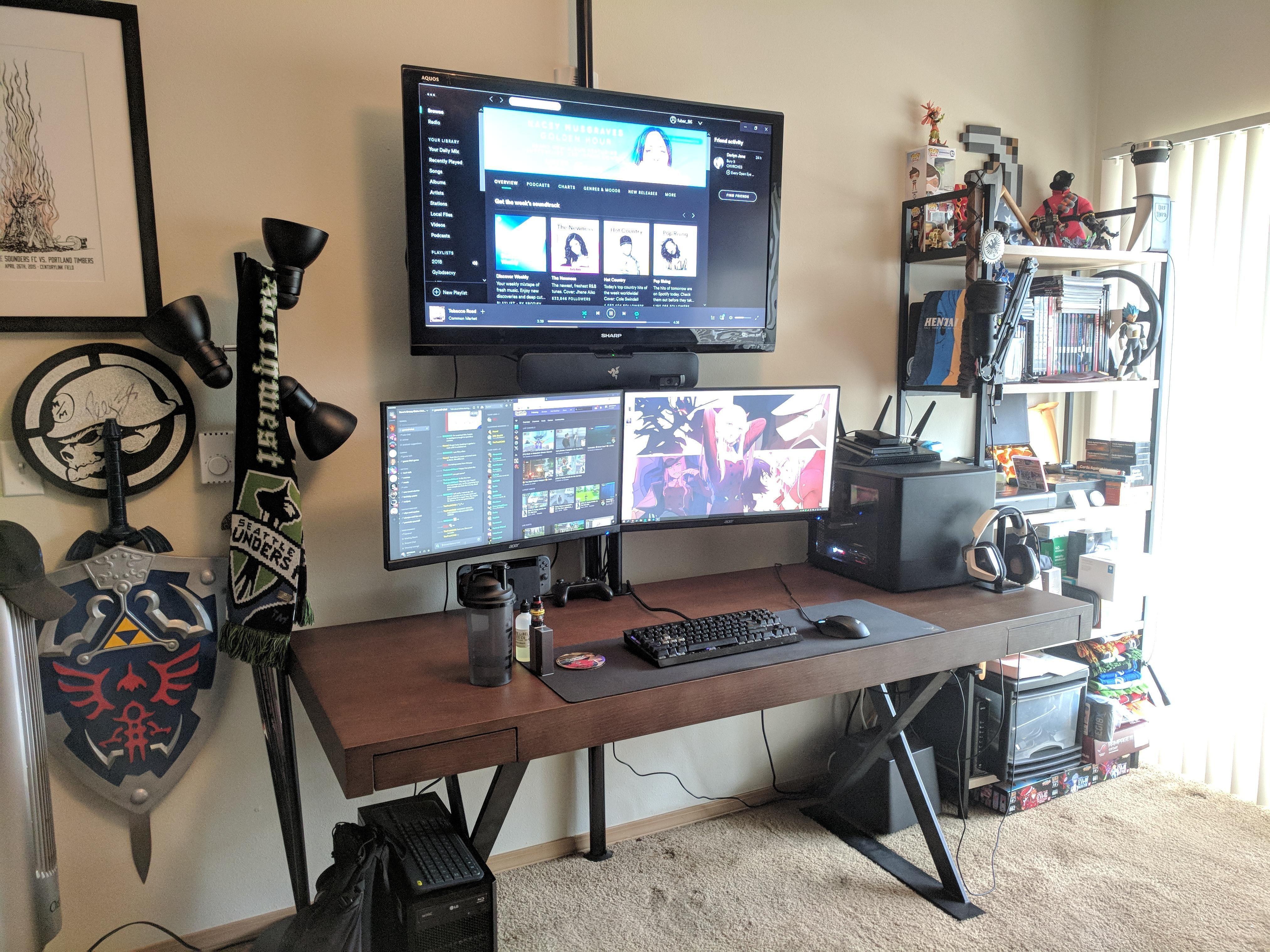 My current setup first post not perfect bureaux pcs setup pinterest habitaci n gamer - Meilleure marque ordinateur bureau ...