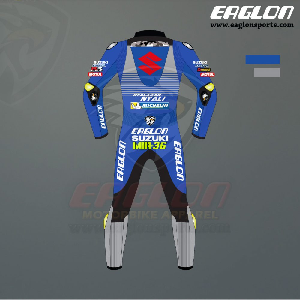 Joan Mir Suzuki Ecstar Motogp 2020 Leather Race Suit Eaglon Sports In 2020 Leather Perforated Leather Suits
