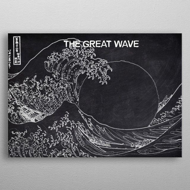 GREAT WAVE by FARKI15 DESIGN | metal posters - Displate | Displate thumbnail