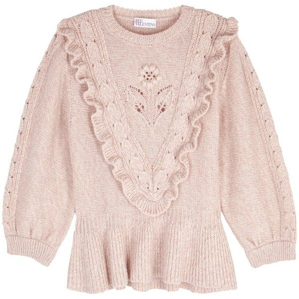 c38809d1554 RED Valentino Blush Wool Blend Jumper - Size M ($730) ❤ liked on ...