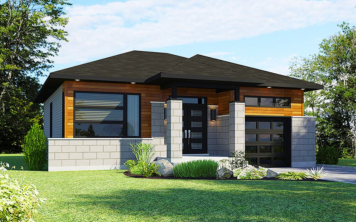 Plan 90280pd Two Bedroom Northwest House Plan Bungalow House Plans Architectural Design House Plans House Front Design