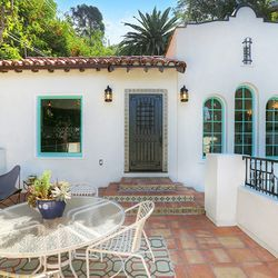 Spanish home with pops of color