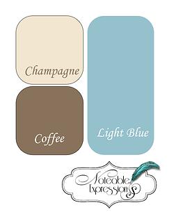 Brown Champagne Blue Color Palette For Living Room