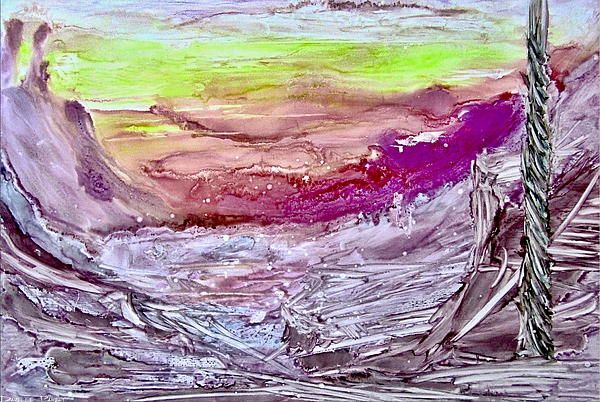 Shades Of Pink Mountains Alcohol Inks