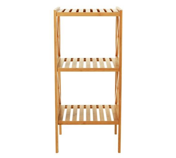Buy Collection Two Tier Bathroom Shelving Unit   Bamboo At Argos.co.uk,