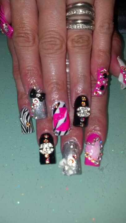 The Bling nails!! Its a little much | Nails | Bling nails ...
