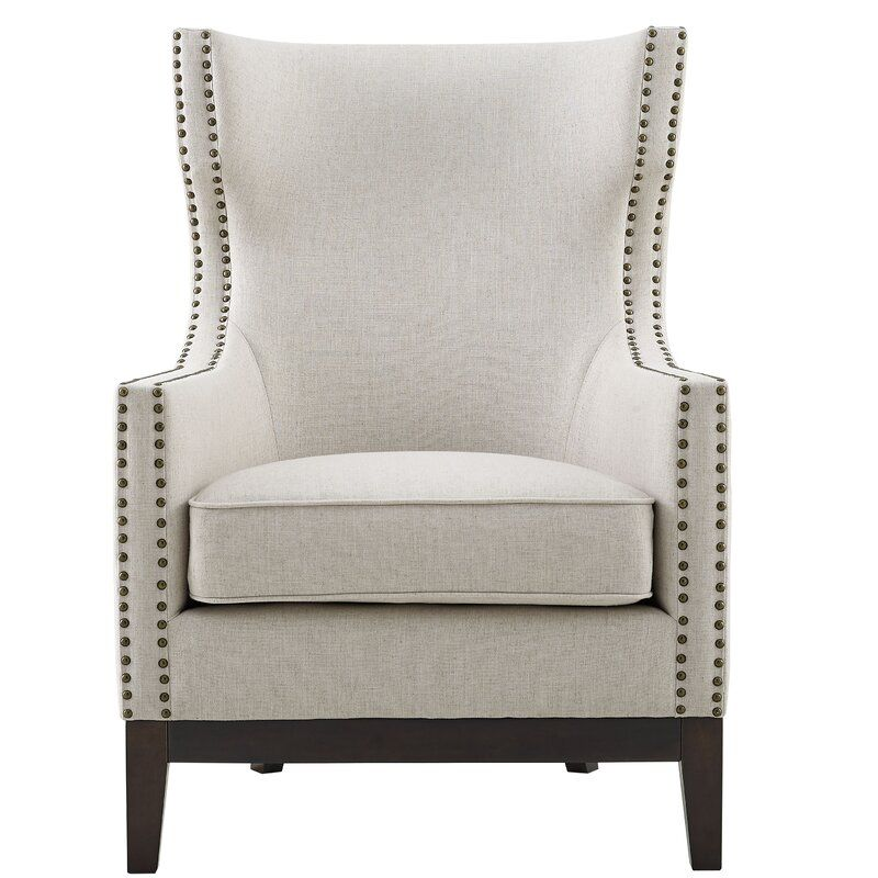 Ranier Wingback Chair Linen Accent Chairs Modern Wingback Chairs Accent Chairs